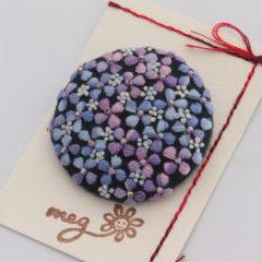 ブローチ 紫陽花