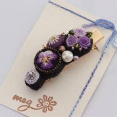 髪留め(紫)