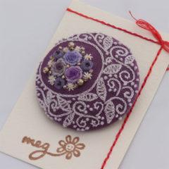 ブローチ 薔薇(紫)