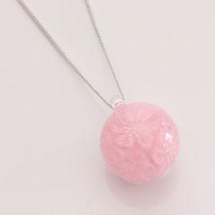 ネックレス 玉(ピンク)